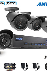 annke® 8ch 960H dvr ecloud hdmi 1080p / VGA / BNC-uitgang 4 stuks 900tvl cmos 42leds dag / nacht ir-cut camera IP66