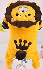 Amarillo - Boda/Cosplay - Algodón/Polar Fleece - Abrigos/Saco y Capucha - Perros/Gatos -