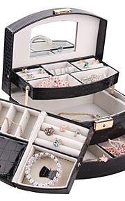 classique boîte de bijoux modernes cadeau anneau affichage cufflink collier bricolage cercueils carbinet zg172c