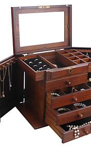 boîte de rangement cadeau les mg002 de l'organiseur d'millésime boîte à bijoux en bois armoire anneau armoire moderne
