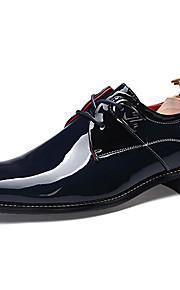 Men's Shoes Casual Faux Leather Oxfords Black/Blue/White