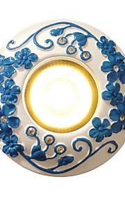 BOXOMIYA® European Day Lantern Led Living Room 3 Watt Lamp TV Background Wall Lamp Retro Mediterranean Lamp