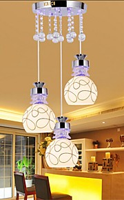 YL LED Ceiling Lights with 3 Bulbs Fashion Style K9 Crystal Chandeliers