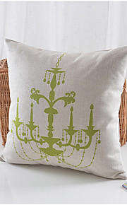 Elegant Lights Pattern Cotton/Linen Decorative Pillow Cover