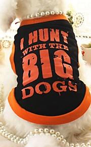 Negro/Naranja - Boda/Cosplay - Algodón - Camiseta - Perros/Gatos -