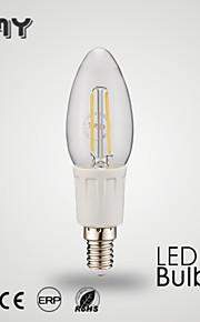 1 stk GMY e12 3 w 8 cob ≥350 lm varmhvit / kaldhvit B35 filament lys pære ac 110-130 v