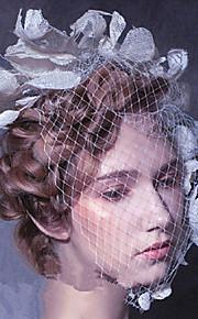 Women's Lace/Pearl/Net Headpiece - Wedding/Party Flower Veil