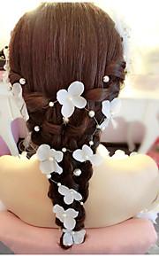 結婚式/パーティー 成人用 人造真珠/ファブリック かぶと ヘッドチェーン 1個