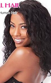8-24inch бразильский девственные волосы естественная волна бесклеевой парик фронта шнурка цвета натуральный черный волос младенца для