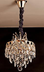 Hängande lampor - Living Room/Bedroom/Dining Room/Sovrum/Badrum - Traditionell/Klassisk - Kristall