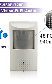 Dag Nacht/Bewegingsdetectie/Dual Stream/Remote Access/IR-cut/Wifi Protected Setup/Plug and play - Binnen Doos - IP Camera