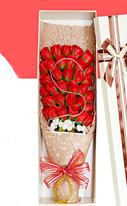 33pcs искусственное сердце пользу выросла тела туалетное мыло цветок лепесток партия подарок свадебные украшения
