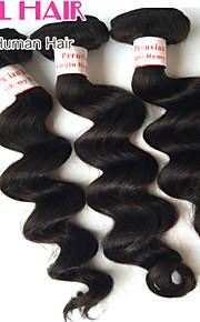 """1шт / много 8 """"-30"""" перуанский свободная волна девственные волосы утки натуральный черный 1b # человеческие волосы плести пучки запутывает"""