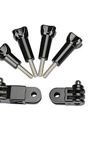Kingma säädettävissä 3-tie kiertovarren kokoonpano laajennus +4 peukalo -nappulaa gopro Hero puoli / 3/3 + / 4 sj4000