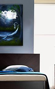 E-Home® gestreckt geführt Leinwanddruck Kunst ein Schiff in dem Mond führte blinkenden Lichtwellenleiter Druck