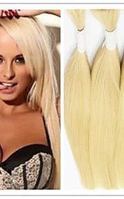3шт / много оптовая светлые волосы навалом, 300 г перуанского часть волос 14-32inch, сырье 613 масса необработанный часть волос оплетки