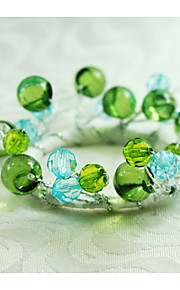 anillo de cristal decoración servilleta, acrílico, 1.77inch, juego de 12