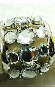 Kristalldekoration Serviettenring, Acryl, 1.77inch, Satz von 12
