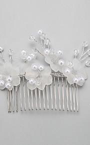 Celada Peinetas Boda Cristal/Aleación/Perla Artificial Mujer/Niña de flor Boda 1 Pieza