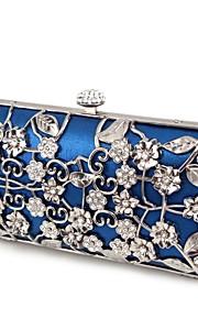 Handbag Silk/Metal Evening Handbags/Clutches With Flower/Metal