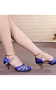 Женская обувь - Атлас/Искусственная кожа - Номера Настраиваемый ( Черный/Синий/Красный/Другое ) - Современный танец