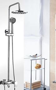salle de bains mural mitigeur pluie robinet de douche serti de 8 pouces abs gris douche de tête et douche à main