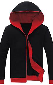 Jacke ( Rot/Grau , Baumwolle ) - für Freizeit - für MEN Lang