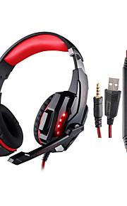 kotion hver G9000 3.5mm spil hovedtelefon med LED lys mikrofon