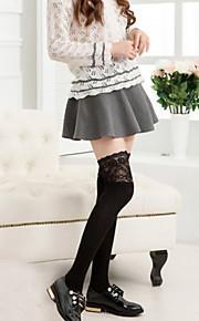 1Pairs Women's Retro Lace Knee Bars Roman Knit Stockings