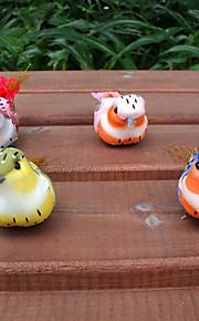 pássaro frigorífico oranments memorando ímã etiqueta horta de penas (cor aleatória)