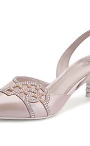 Chaussures Femme - Mariage / Bureau & Travail / Décontracté / Soirée & Evénement - Bleu / Rose - Kitten Heel - Talons - Sandales / Talons