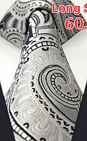 Men's Casual Paisley Light Gray Ties