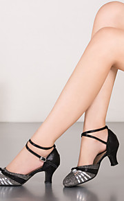 Женская обувь - Кожа/Пайетки - Номера Настраиваемый ( Черный/Синий/Лиловый/Золотой ) - Современный танец
