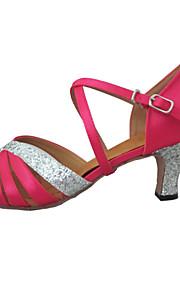 Женская обувь - Атлас/Мерцающая отделка Синий/Розовый ) - Латино