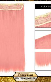 Ombre клип в прямой наращивания волос синтетические парики F15