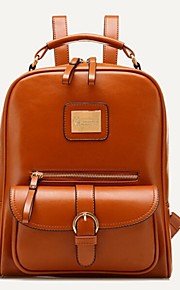 Women PU Bucket Backpack - Beige / Blue / Brown / Black / Khaki