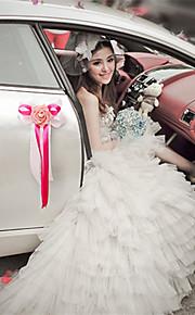 PE Rose Flower Decoration Car Door & Rearview Mirror