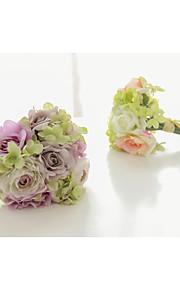 Mini Size Silk Cloth Rose Hand Bouquets Bridesmaid