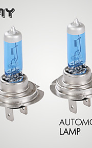 2PCS GMY H7 Halogen Car Light Blue Series 12V 55W Base P×26d 400hrs