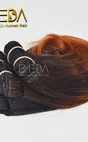 новые 3шт / комплект Ombre человек девственница короткие волосы ткать мокрый волнистые Ombre 2 тон цвет # 1B / 33 8inch 6 цветов Доступный