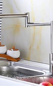 Grifo de la cocina Art Deco / Retro Preenjuague Acero Inoxidable Níquel