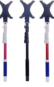 bleu-199 sans fil Bluetooth auto-support selfie bâton et grosse pince pour les téléphones portables