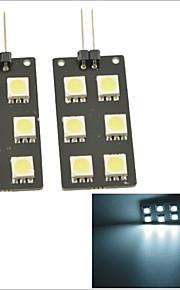 bil g4 stik bag hale kasse lampe / footlight / dør lys - hvidt lys
