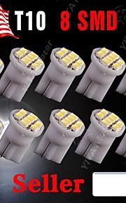 10 x wit t10 8-smd 3020 geleide wig kant lamp lamp W5W 194 168 501 12v