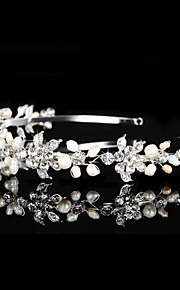 Vintage Charming Design Wedding Bride Handmake Headband Cown Pearls Hair Accessior Flower Silver