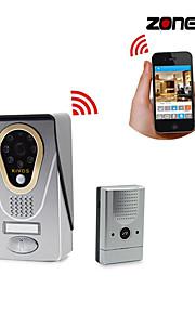zoneway® kivos kdb400 720p HD IP di wifi videocitofono campanello ios supporto e android app, scheda di memoria di tf