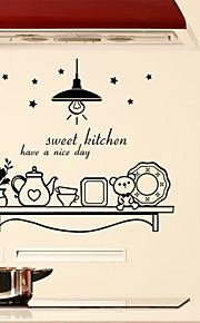 벽 스티커 벽 데칼 스타일의 달콤한 부엌 영어 단어&PVC 벽에 스티커를 인용