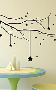 autoadesivi della parete a parete in stile decalcomanie adesivi murali stella ramo di albero in pvc