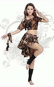 Belly Dance Outfits Women's Performance/Training Polyester/Milk Fiber Leopard 2 Pieces Leopard Print