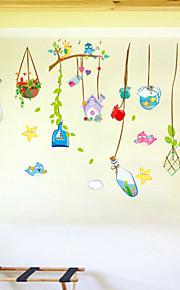 이동식 아름다운 바다 드리프트 병 평면 벽 스티커 벽 장식, PVC
